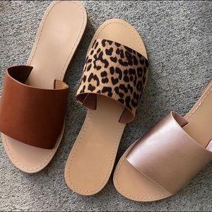 Shoes - New Arrival- Vegan Suede Leopard Print Flats